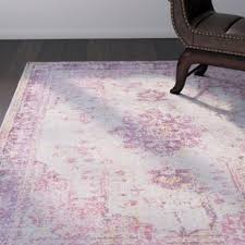 Lilac Runner Rug Vintage Distressed Runner Rug Wayfair
