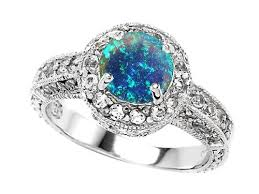 blue opal engagement rings rings pohs usa