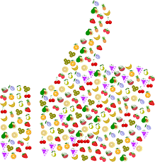 clipart thumbs up fruit