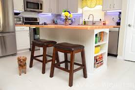 how to install a kitchen island installing butcher block on a kitchen island sew woodsy