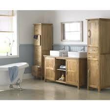 Oak Bathroom Cabinet Solid Oak Basin Bathroom Cabinet With Tap Waste