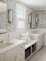 bathroom tile wall ideas calming master bathroom with shiplap and tile walls a window seat