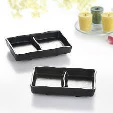 japanese restaurant sushi divided plates soy sauce divided dishes
