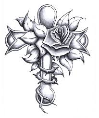 gallery for drawing of crosses cross pinterest tattoo