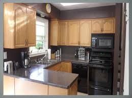 kitchen color ideas with oak cabinets and black appliances kitchen color ideas with oak cabinets with black granite