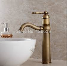 Retro Bathroom Taps Luxury Antique Bathroom Faucet And Cold Basin Taps Classic Brass