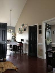 awesome black interior doors completing elegant room design