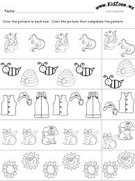 patterns worksheets kindergarten worksheets