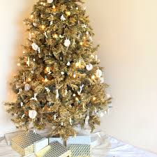 gold christmas tree christmas tree gold christmas lights decoration