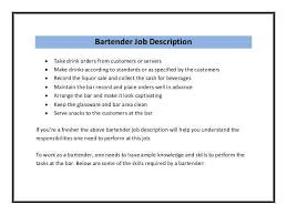 resume exles for bartender how to write the best bartender description and get hired fast