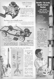 the christmas wish book revells saturn v and visible v 8 engine models from the 1969