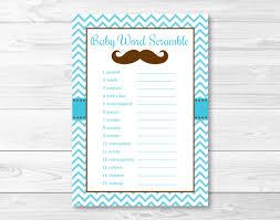 Free Printable Halloween Word Scramble by Mustache Baby Shower Word Scramble Little Man Baby Shower