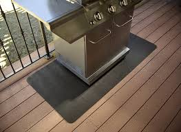 Fire Pit Mat For Wood Deck by Splatter Mat Grill Mat Protects Your Patio Or Deck From Bbq Grease