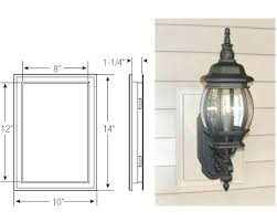 outdoor light mounting bracket vinyl siding light blocks absurd new house how do i install outdoor