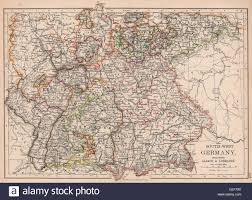 Alsace Lorraine Map Germany South Bavaria Bayen Baden Wurttemberg Includes Alsace