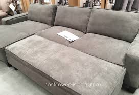 Sectional Sofa With Storage Chaise Chaise Sofa With Storage Ottoman Costco Weekender