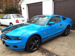Blue Mustang Black Stripes Post Your Mustang Stripes Pictures U0026 Discussion In Here The