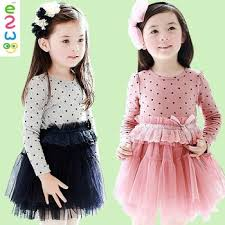 online shopping kids dress u0027s long sleeve party dess korean