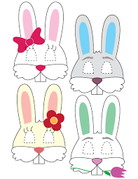 easter photo props printable easter bunny masks black decker laminating