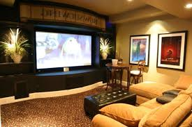 media room wall decor media room using basement decorating ideas