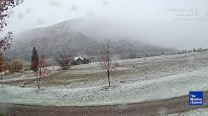 winter storm aiden brought the first snow of the season to denver