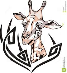 giraffe tattoo royalty free stock photo image 26259645
