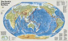 National Geographic Map Buy The Earth U0027s Fractured Surface Tubed By National Geographic Maps