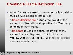 layout techniques definition html concepts and techniques fifth edition chapter 6 using frames in