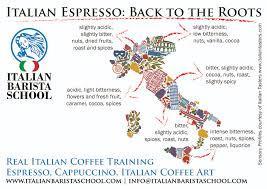 Italian Map Italian Barista Home