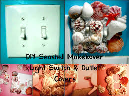 beach light switch covers variety o variety blog diy seashell makeover light switch and