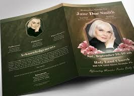 modern funeral programs vintage funeral program template inspiks market