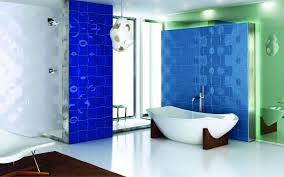 modern white and blue bathroom ideas and accessories set