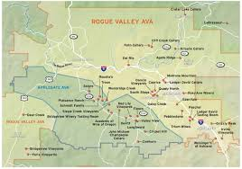 Oregon Ava Map by 2012 Spring Wine Guide Rogue Valley Applegate Map Oregonlive Com
