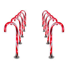 amazon com prextex christmas candy cane pathway markers set of