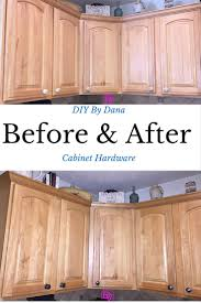 replace kitchen cabinet hardware diy tutorial