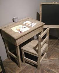 bureau pupitre bureau pupitre d colier et chaise en bois athezza déco