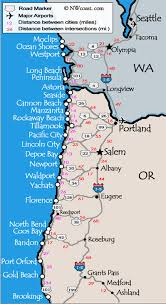 coast map oregon coast maps washington coast map