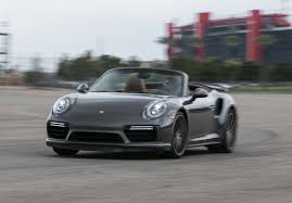 gold porsche convertible 2017 porsche 911 turbo cabriolet first test the ultimate socal