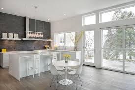 Stone Backsplash Kitchen by Stacked Stone Backsplash Kitchen Contemporary With Clerestory