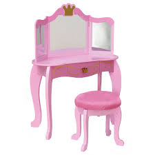 How To Make A Bedroom Vanity Kidkraft Pink Princess Bedroom Vanity Set 76125 Walmart Com