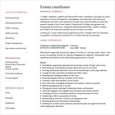 Event Planning Resume Samples by Event Planning Intern Resume Sample