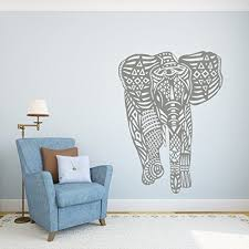 Wall Decal Elephant Vinyl Stickers Decals Yoga Ganesh Tribal