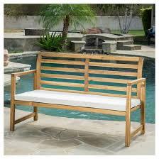 Patio Bench Cushion by Emilano Acacia Wood Patio Loveseat Bench With Cushion Natural