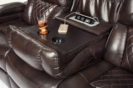 Power Recline Sofa Chocolate Power Reclining Sofa With Adjustable Headrest