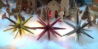 vintage plastic sputnik ufo tree ornaments