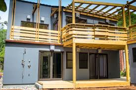 Modern Two Storey House With Streamline Roof by Vibrant Modern Beach Cottage U2014 Fasse Bldgs