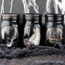 Haunted House Decorations Haunted House Mason Jar Crafts The Country Chic Cottage