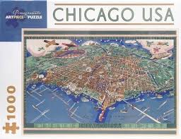map usa jigsaw chicago usa map 1000 jigsaw puzzle poster plus