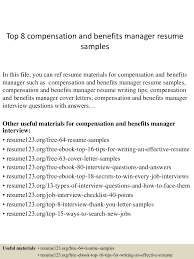 Hr Director Resume Examples by Benefits Manager Resume Virtren Com