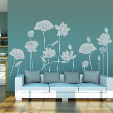 decorative wallpaper for home traditional art water lilies vinyl wall stickers romantic